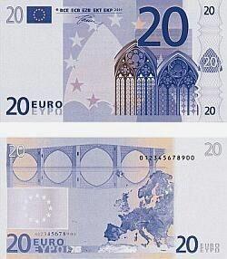 20 Euro Schein Euro Geld Euro Scheine 20 Euro Schein