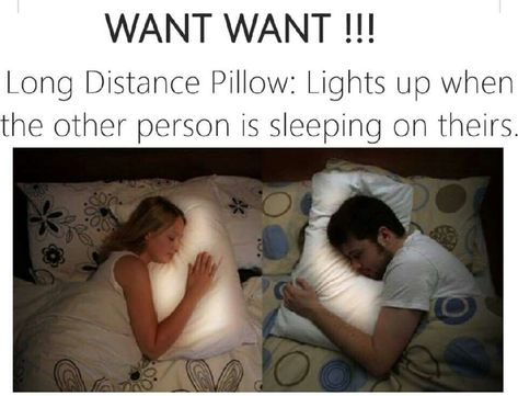 """Hope you like this as much as I do! """"The Long Distance Pillow! Great for when you are missing that special someone."""""""