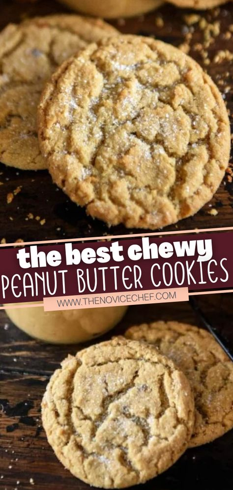 This holiday dessert is excellent to make ahead for a Christmas cookie exchange! You don't need any special ingredients or fancy preparation for this quick and easy recipe. With super soft, chewy centers and tons of peanut butter flavor, these cookies are the BEST!