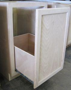 Kitchen Base Cabinet Used For Tilt Out Trash Bin   Google Search