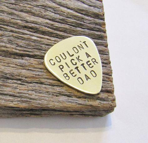 Stamped Guitar Pick