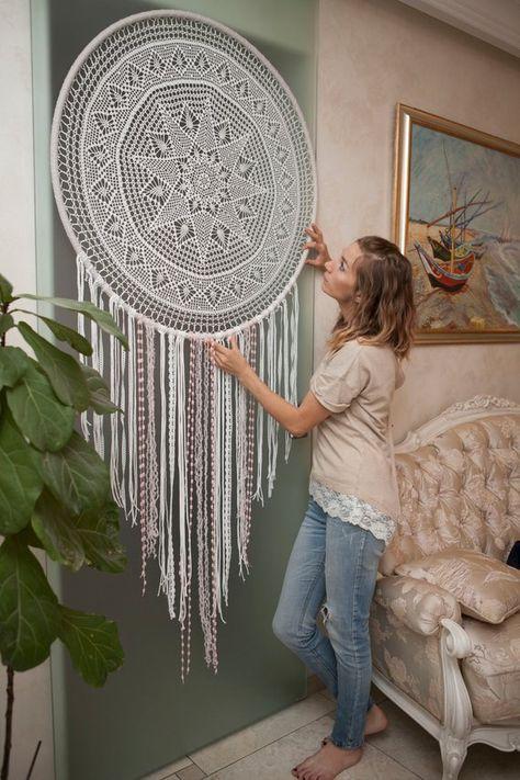 Mandala anti-stress Large dream catcher wall hanging