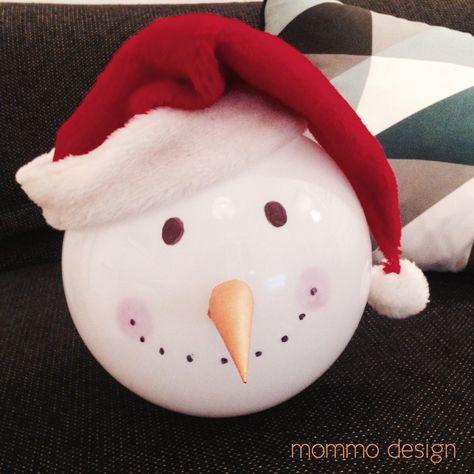 Christmas Ikea Hack Snowman Fado Lamp Basteln Mit Kindern Tolle Weihnachtsdeko Und Ikea Fado