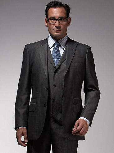 English Laundry Charcoal Vested Suit...gray suits (esp a 3-piece ...