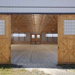 12 X 14 Pine Sliding Doors In 2020 Riding Arenas Indoor Arena Outdoor Decor