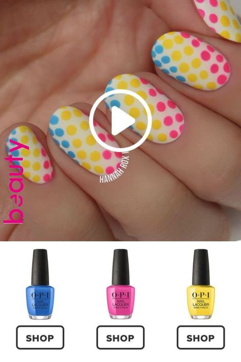 How to Get a Neon Polkadots Manicure
