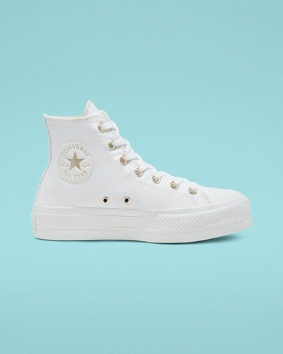 Elevated Gold Platform Chuck Taylor All Star White/White/Gold ...