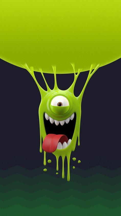 Papel de parede de monstros engraçados para celular