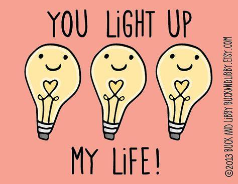 You LIght Up My Life 8.5 x 11 Illustration Print by BuckAndLibby