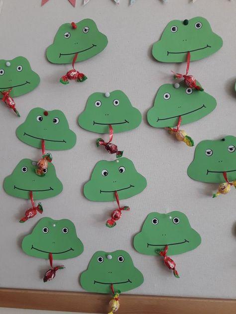 Willkommensgeschenk Im Kindergarten Frosch Basteln