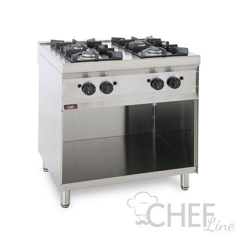 Cucina Professionale A Gas 4 Fuochi Profondità 70 cm *Prezzi ...