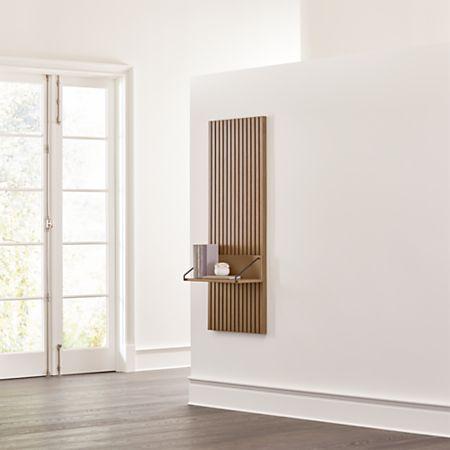 Batten Reversible Wall Shelf Reviews Crate And Barrel In 2020 Wall Shelves Shelves Apartment Living