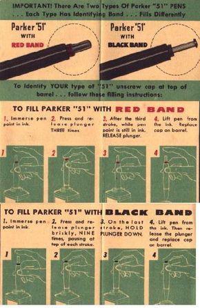 Parker Vacumatic Filling Instructions Parker Fountain Pen Fountain Pen Drawing Vintage Pens
