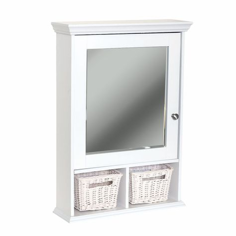 21 inches wide - $189.00 / each - Get 2 - Wall Cubby Medicine Cabinet - White