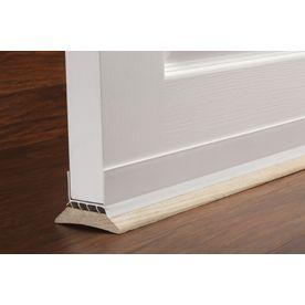 M D 3 Ft X 1 3 4 In White Cinch Slide On Bottom Door Seal Aluminum Vinyl Door Weatherstrip Lowes Com Vinyl Doors Door Seals Weather Stripping