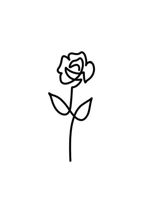 Simple Rose Tattoo Outline Designs Tattoideas Rose Drawing Simple Rose Drawing Tattoo Simple Rose Tattoo