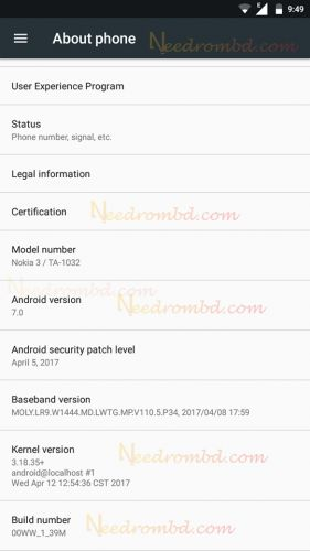 Nokia 3 Official Stock Firmware Rom Needrombd Nokia Android Security Firmware