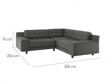 Hendricks Charcoal Fabric Small Right Hand Corner Sofa Corner Sofa Buy Sofa Sofa