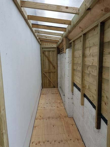 Lean To Shed Cabinteely Side Passage Shed Mac Carpentry In 2020 Lean To Lean To Shed Garden Sheds For Sale