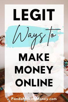 18 Legit Ways To Make Money Online | Panda Making Money