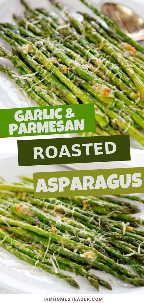 Crispy garlic parmesan roasted asparagus is simple and delicious! This Easy asparagus recipe is a quick side dish that pairs with any savory meal. A great way to add veggie into your regular meal rotation is this oven roasted garlic parmesan asparagus!