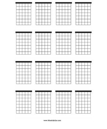 Blank Chord Chart Pdf Free Download Printable With Blank Chord