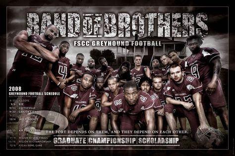 Band of Brothers Football Team Poster Idea  Codeblack Sports…