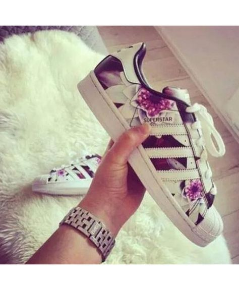 adidas superstar femme floral