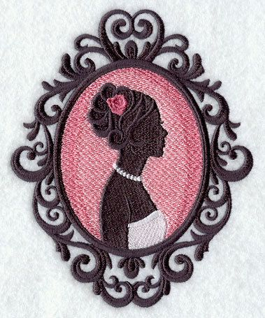 Bride Silhouette Cameo Wedding Towel by EmbroideryEverywhere, $14.99