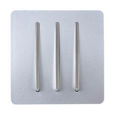 Trendi Switch 3 Gang 2 Way Artistic Modern Glossy 10 Amp Rocker Light Silver Co Uk Lighting