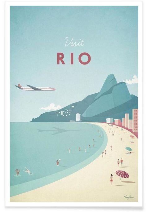 Rio en Affiche premium par Henry Rivers | JUNIQE