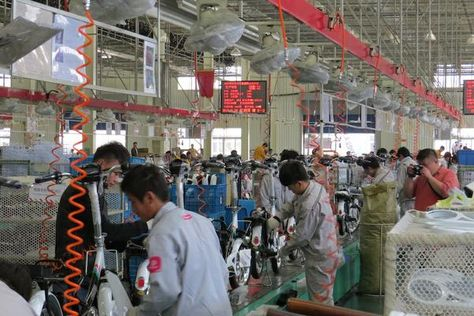 China E Bike Factory Tours Giant Golden Wheel Yadea Kalkhoff