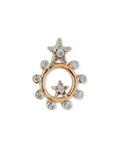 Kismet by Milka Single Eclectic Two-Bar Star Earring with Diamonds q4RPa51YI