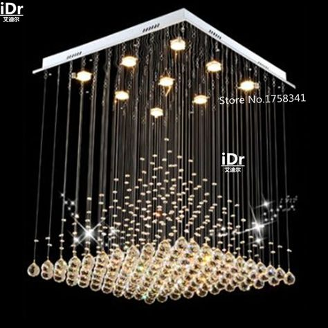 Crystal Chandelier Light k9 crystal curtain wave light