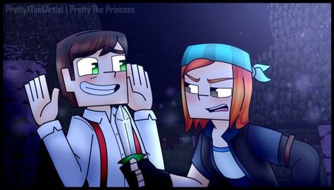 Minecraft Story Mode , Jesse and Petra (CM) by PrettyXTheXArtist