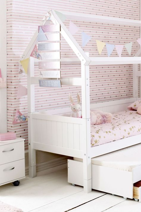 Buy House Trundle Bed By Parisot From The Next Uk Online Shop House Beds For Kids House Frame Bed Playhouse Bed