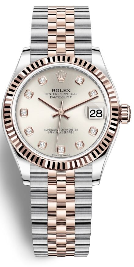 Rolex Datejust 31 Silver Diamond Dial Automatic Ladies Steel and 18kt Everose  Gold Jubilee Watch 278271SDJ in 2021   Rolex, Rolex watches, Datejust