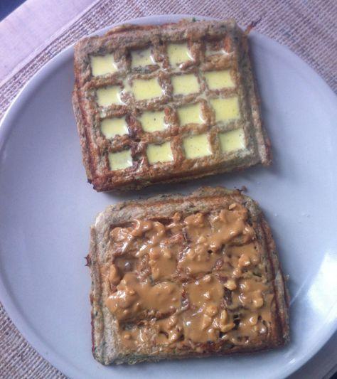 Sea Salt and Dark Chocolate waffles- Find the recipe at thebigmansworld.com