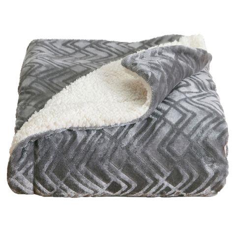 Home Fashion Designs Reversible Sherpa Velvet Plush Twin Blanket Pewter Solid Silver Plush Throw Blankets House Styles Plush Blanket