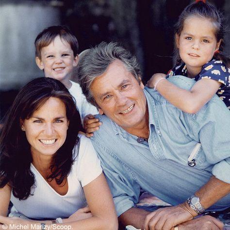 Alain Delon and family