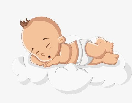 Baby Clipart Baby Cartoon Hand Painted Child Clouds Go To Bed Sleep Soundly Infants And Pregnant Mother Hand Painted Go Be Baby Clip Art Baby Sleep Baby Images