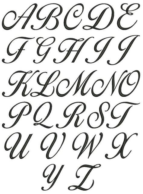 Cursive Alphabet A To Z A z cursive lettering for