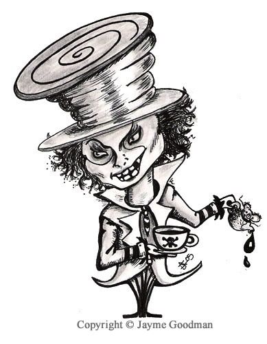 Tattoo designs hatter mad Magical Alice
