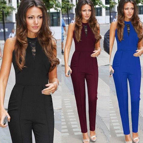 NEW Women Ladies Clubwear Summer Playsuit Bodycon Party Jumpsuit Romper Trousers