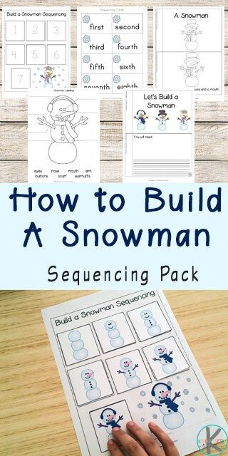 Snowman Sequencing Worksheets Sequencing Worksheets Sequencing Activities Preschool Sequencing Activities Kindergarten Snowman sequencing worksheet free