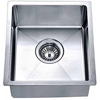 Lordear Commercial 15 Inch 16 Gauge 10 Inch Deep Small Drop In Undermout Stainless Steel Single Bowl Kitchen Sink Brushed Ni Bar Sink Undermount Bar Sink Sink