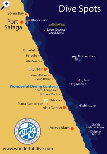 Mapa Del Sur Del Mar Rojo Marsa Alam Port Ghalib Hurghada - Map of egypt marsa alam