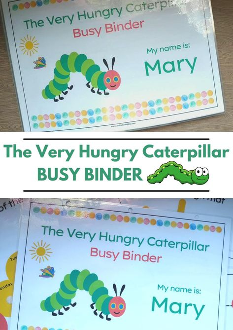 The Very Hungry Caterpillar Busy Binder, The Very Hungry Caterpillar Worksheet
