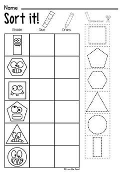 Shapes Worksheet Packet Busy Work For 2d Shapes Sekil Calisma