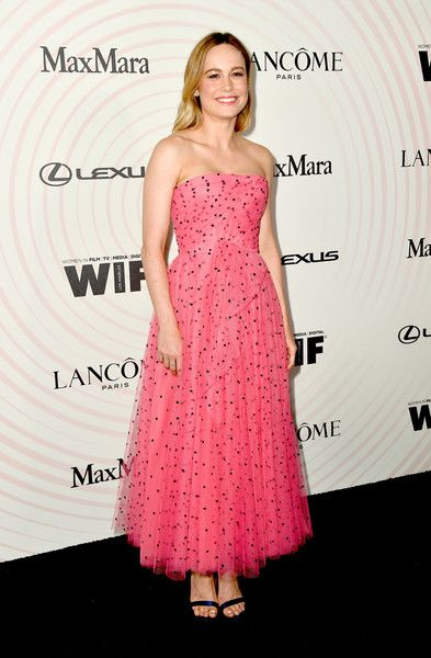 Brie Larson attends the Women In Film 2018 Crystal + Lucy Awards presented by Max Mara, Lancôme and Lexus at The Beverly Hilton Hotel.